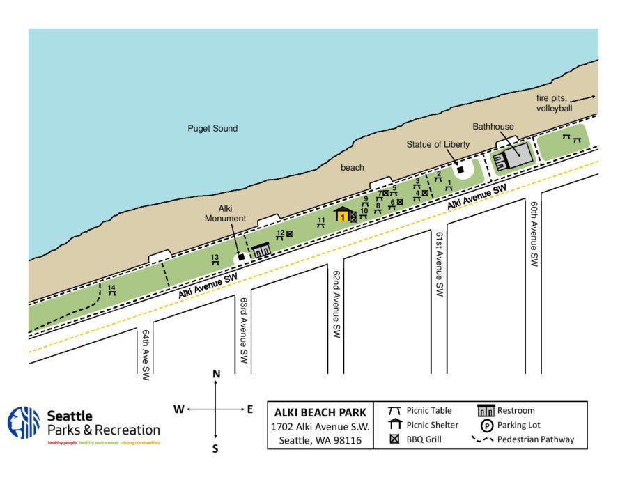 Alki Beach Seattle Map.Team Survivor Northwest Summer Picnic Team Survivor Northwest