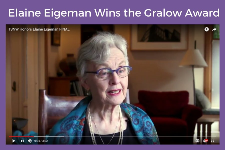 Elaine Eigeman Wins the Gralow Award